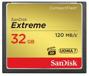 Cartão De Memória Sandisk 32gb Extreme Compacflash 120 Mb/s