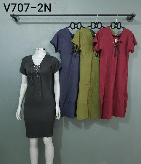 Lote Con 10 Vestido Piel De Durazno, Unitalla Varios Colores