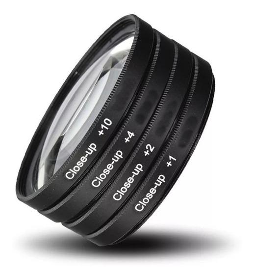 Kit De Filtros Close-up 49mm +1 +2 +4 +10