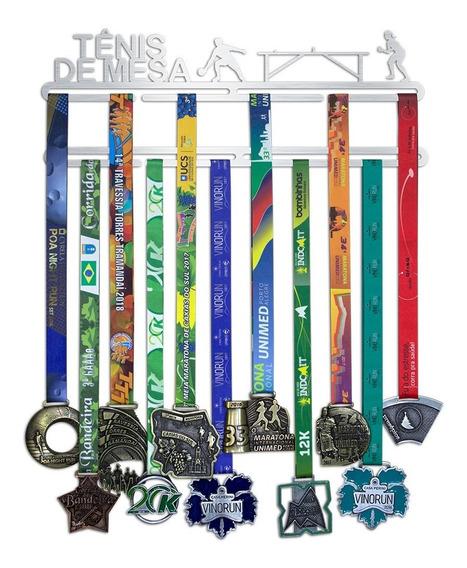 Suporte Para Medalhas Tênis De Mesa Feminino - Inox Escovado