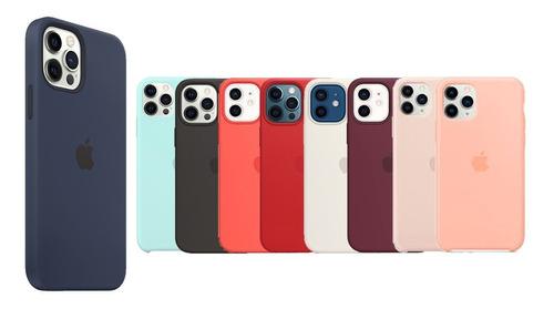 Imagen 1 de 5 de Silicone Case iPhone 12 / 12 Pro Sellada Silicona Protector