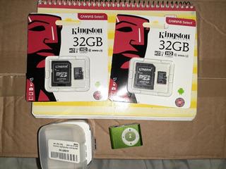 Memoria Micro Sd Kingston De 32 Gb + Reproductor Mp3
