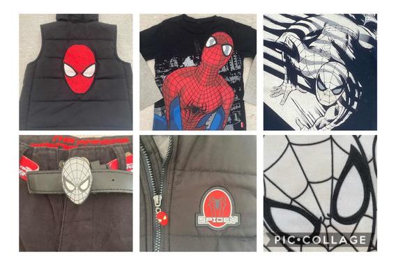 Lote Ropa Spiderman Hombre Araña Nene Talle 8/10 Exc Estado