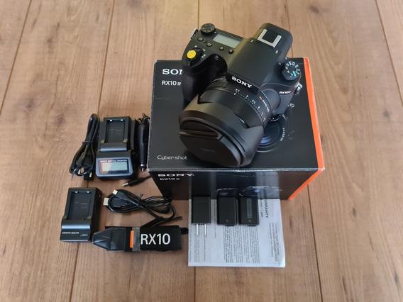 Câmera Sony Cyber-shot Rx10 Iv F2.4-f4/24-600mm+1 Bat+2carre