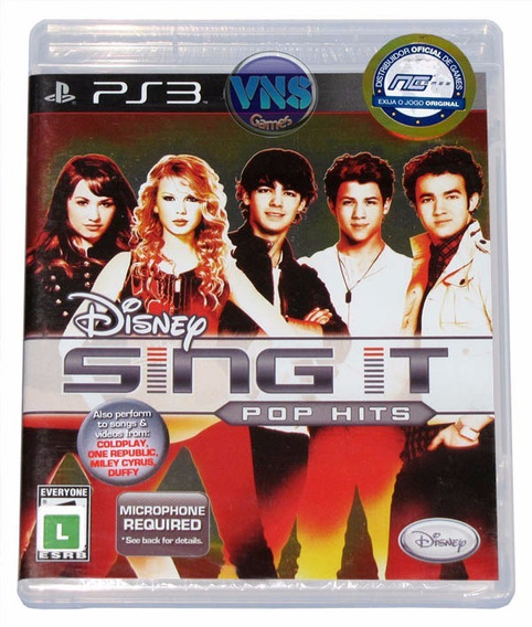 Disney Sing It Pop Hits - Ps3 - Mídia Física - Lacrado