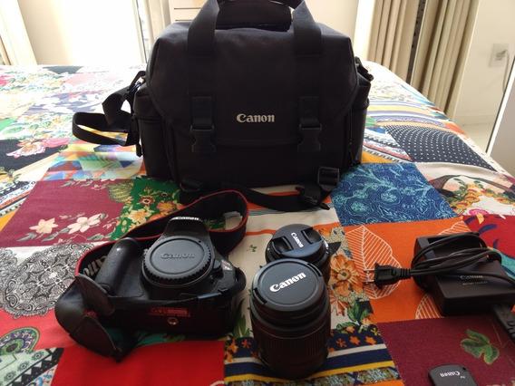 Câmera Canon T3i Com Duas Lentes, Manuais E Bolsa!!! (usada)