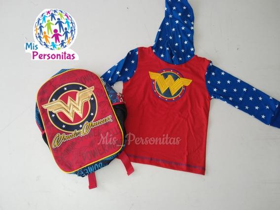 Bolsos Y Suéter Para Niñas De Mujer Maravilla Super Chica