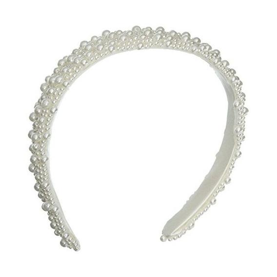 Darice V35231-01 Perla De Cuentas De La Venda De Boda, Blanc