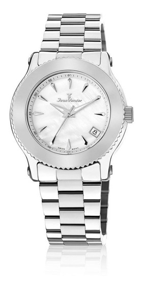 Relógio Pulso Jean Vernier Moderno Feminino Jv01022