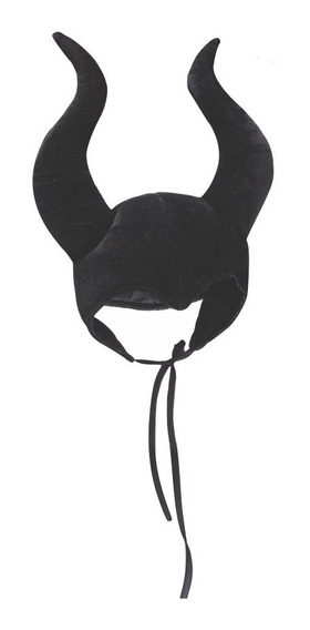 Gorro Malefica Disfraz Halloween Bruja Sombrero Cuernos