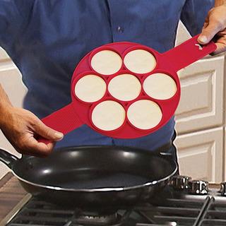Molde Silicón Para Mini Hotcakes, Huevos, Panqués