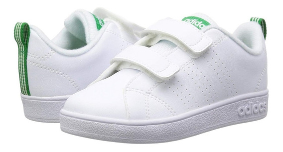 Tenis adidas Niño Advantage Clean Blanco Aw4889