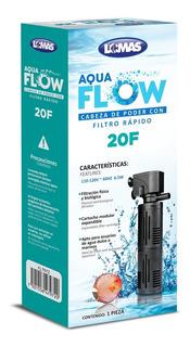 Cabeza De Poder Con Filtro Rápido Aqua-flow 20 Para Acuario