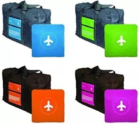 Bolso De Viaje Plegable Ligero Happy Travel X Mayor X 10 Unidades, Mania-electronic
