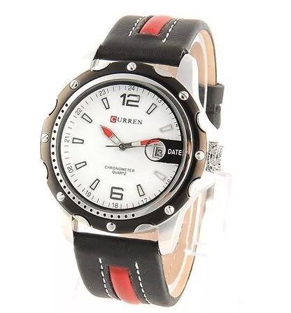 Relógio Masculino Curren Analógico Casual Preto 8104