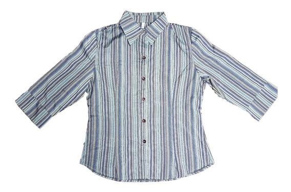 Camisa Rayada Talle 1/s B & Lg