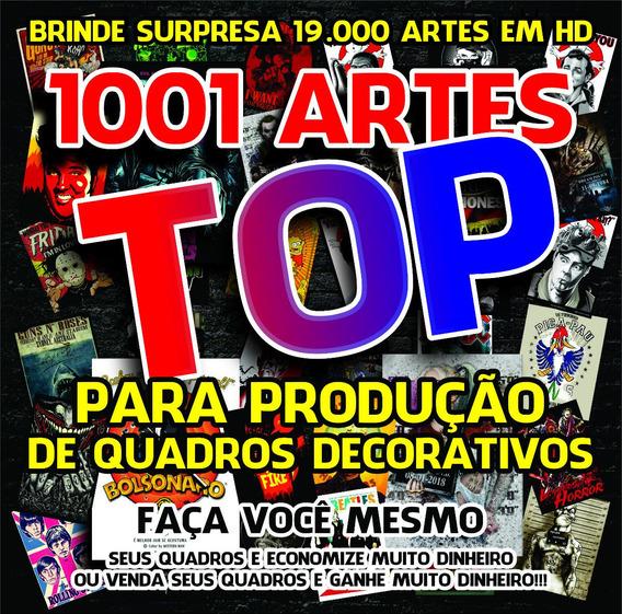 Quadros Decorativos Kit 1001 Artes Top + Pacotão De Brindes