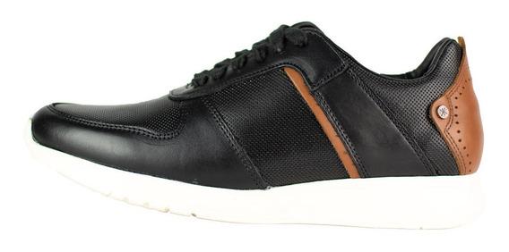 Zapato Casual De Piel Karosso Kasual Negro 4202