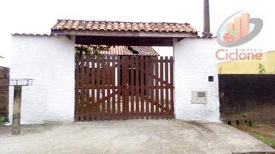 Casa Com 1 Dormitório Para Alugar, 50 M² Por R$ 500/mês - Cibratel - Itanhaém/sp - Ca0605