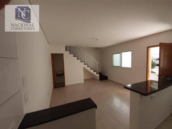 Sobrado Com 2 Dormitórios À Venda, 90 M² Por R$ 390.000 - Parque Das Nações - Santo André/sp - So3244
