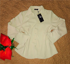 Blusa Camisa Social Feminino Manga Longa Moda Evangelica