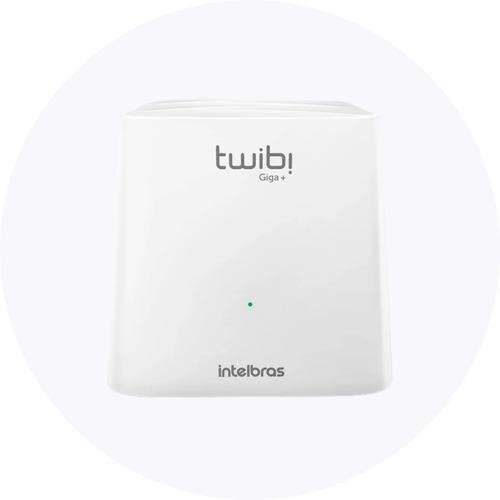 Imagem 1 de 6 de Roteador Com Wifi Intelbras Twibi Giga+