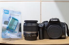 Canon Eos Rebel 1000d Xs + Carregador + Bateria + Cartão