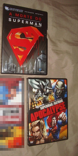 2 Dvd Original Morte Do Superman + Batman Apocalypse