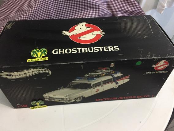 Hot Wheels Elite Ghostbusters Ecto 1 Caca Fantasma 1/18 H3br