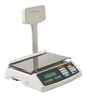 Balanza Mostrador Systel Croma 30 Kg Bateria Puerto Impresor