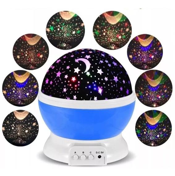 Luminária Lua Estrelas Projetor Céu Estrelas Nf E Garantia
