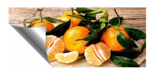 Imagem 1 de 2 de Adesivo Parede Painel Cozinha Fruta Tangerina Laranja Verão