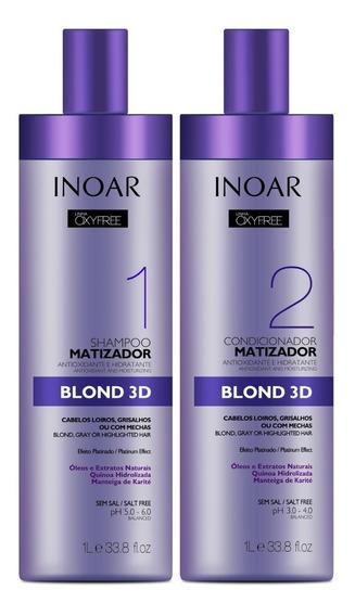 Combo Shampoo E Condicionador Matizador Oxyfree --- Inoar