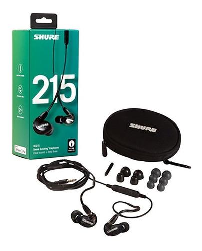 Imagen 1 de 7 de Auriculares Shure Se215 K Uni Earphones Negro Microfono