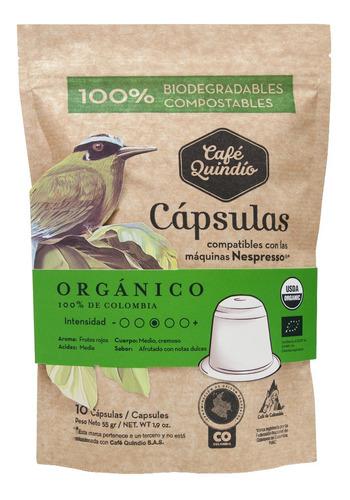 Cápsulas De Café Orgánico X10 (compatibles Con Nespresso)