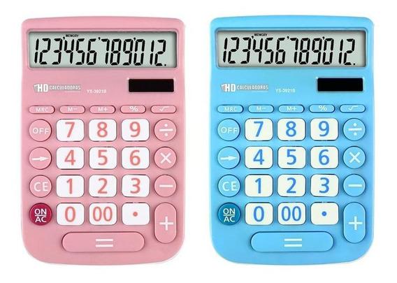 Calculadora 12 Dígitos Colorida Ys-3921b Yin