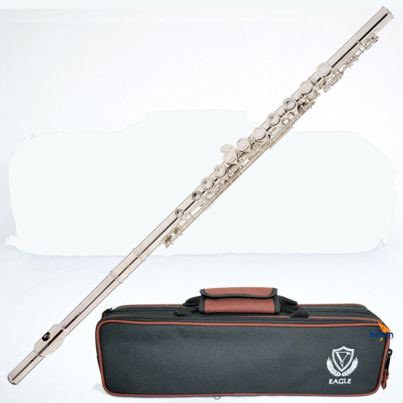 Flauta Eagle Fl03s Prateada Transversal Dó Br