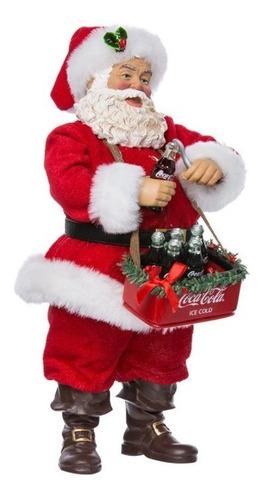 Santa Coca Cola Abriendo Botella Kurt Adler 10  Original