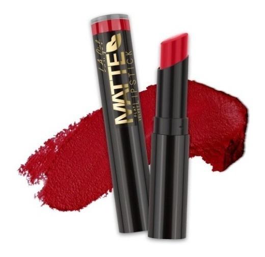 Labial Matte Relentless Rojo Glc809 Original L.a Girl Makeup