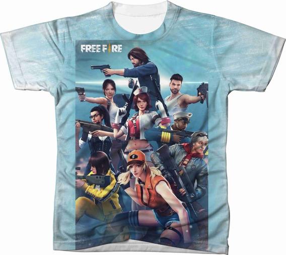 Camiseta Camisa Personalizada Free Fire Jogo Game Ref 11