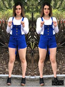 Overol Jumpsuits Short Moda 2019 Primavera Verano