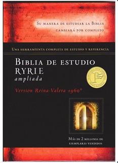 Biblia De Estudio Ryrie - Tapa Dura Rv 1960