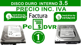 Disco Duro Pc 500gb Seagate Western Hitachi 3.5 Inc Iva