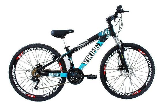 Bicicleta Freeride Aro 26 Freio À Disco 21v Vikingx