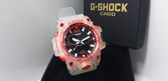 Relógio G-shock Mudmaster Branco Transparente Robusto Detalh