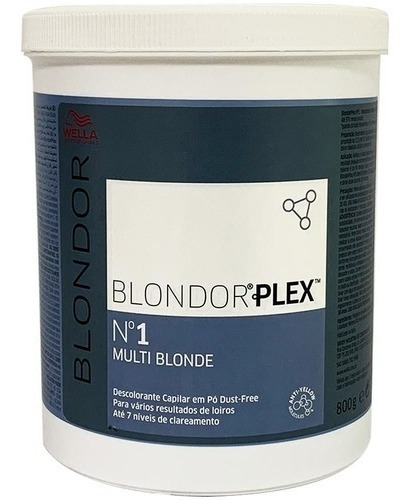 Imagem 1 de 2 de Pó Descolorante Wella Blondor Plex Nº1 Multi Blonde 800grs.