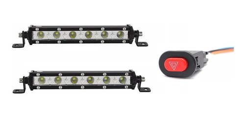 2 Exploradoras X6 Led Blanco / Strober + Switch Nuevas