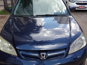 Honda Civic Lx 115 Cv 2005 Azul Único Dono Completo Gasolina