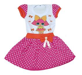 Vestido Infantil Lol Várias Estampas Fab4