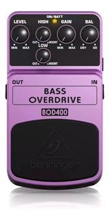 Pedal Bajo Overdrive Behringer Bod400 + Garantía
